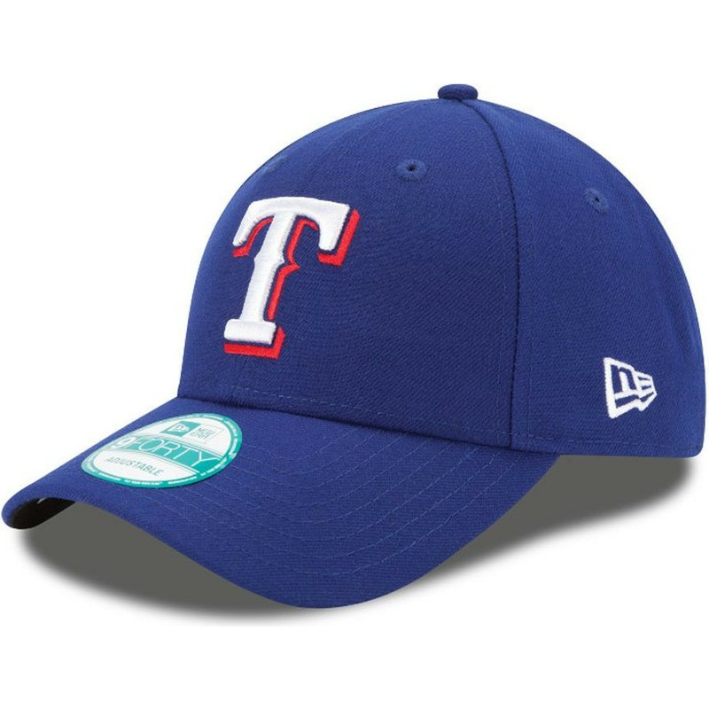 casquette-courbee-bleue-ajustable-9forty-the-league-texas-rangers-mlb-new-era