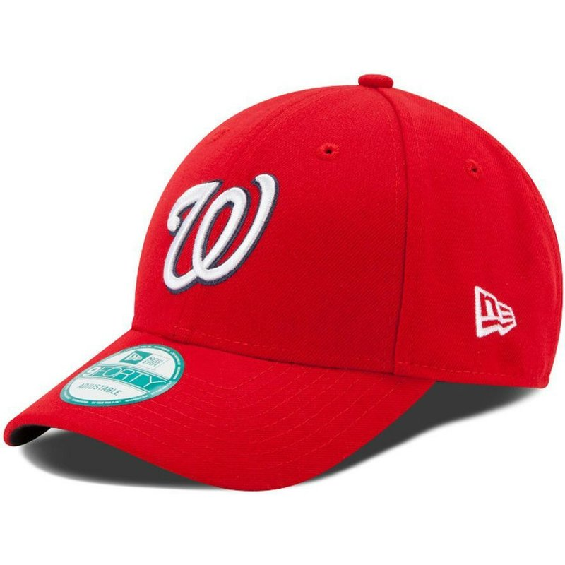 casquette-courbee-rouge-ajustable-9forty-the-league-washington-nationals-mlb-new-era