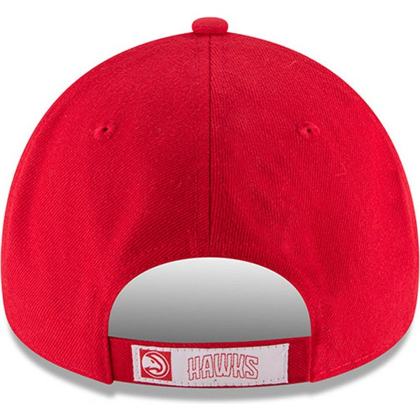 casquette-courbee-rouge-ajustable-9forty-the-league-atlanta-hawks-nba-new-era