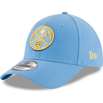 Casquette courbée bleue claire ajustable 9FORTY The League Denver Nuggets NBA New Era