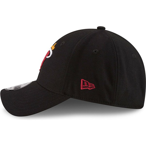 casquette-courbee-noire-ajustable-9forty-the-league-miami-heat-nba-new-era