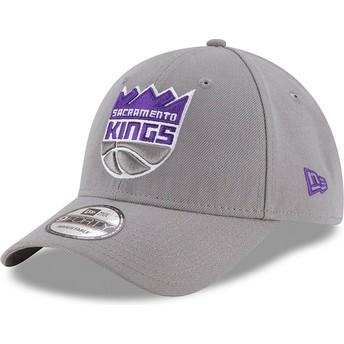 Casquette courbée grise ajustable 9FORTY The League Sacramento Kings NBA New Era