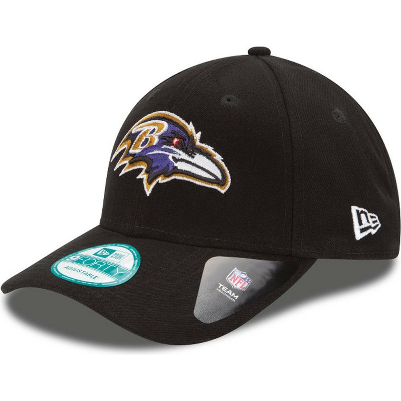 casquette-courbee-noire-ajustable-9forty-the-league-baltimore-ravens-nfl-new-era