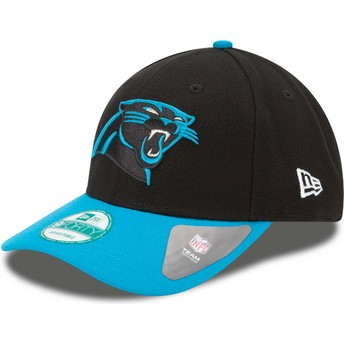 Casquette courbée noire et bleue ajustable 9FORTY The League Carolina Panthers NFL New Era