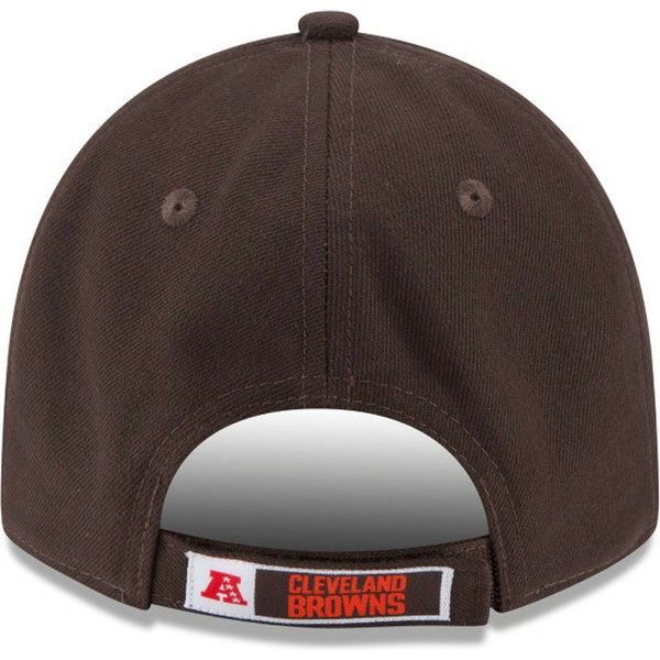 casquette-courbee-marron-ajustable-9forty-the-league-cleveland-browns-nfl-new-era