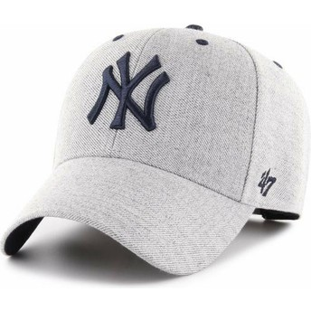 Casquette courbée grise ajustable New York Yankees MLB MVP Storm Cloud 47 Brand