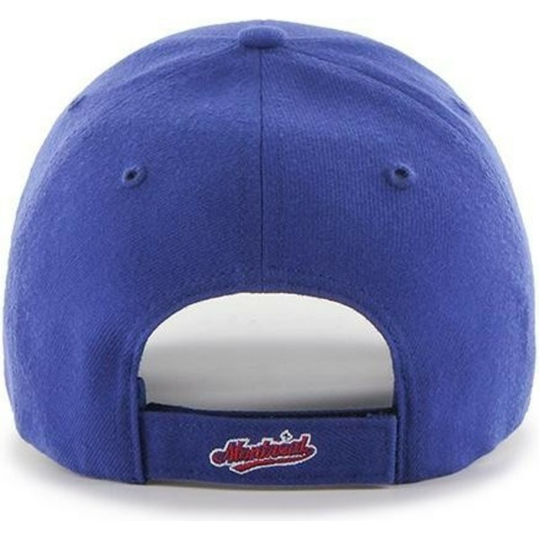 casquette-courbee-bleue-ajustable-avec-logo-classique-montreal-expos-mlb-mvp-cooperstown-47-brand
