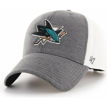 Casquette courbée grise San Jose Sharks NHL MVP Haskell 47 Brand