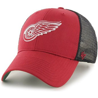 Casquette trucker rouge Detroit Red Wings NHL MVP Branson 47 Brand