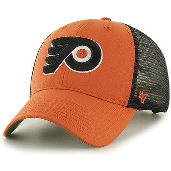 Casquette trucker orange Philadelphia Flyers NHL MVP Branson 47 Brand