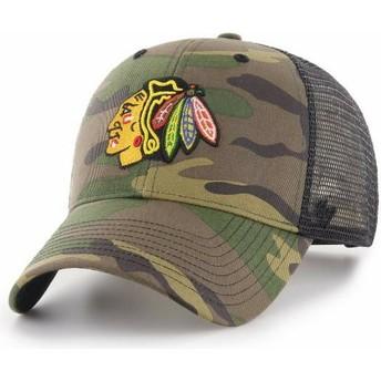 Casquette trucker camouflage Chicago Blackhawks NHL MVP Branson 47 Brand
