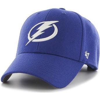 Casquette courbée bleue Tampa Bay Lightning NHL MVP 47 Brand