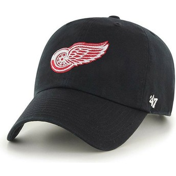 Casquette courbée noire Detroit Red Wings NHL Clean Up 47 Brand