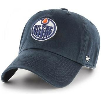 Casquette courbée bleue marine Edmonton Oilers NHL Clean Up 47 Brand