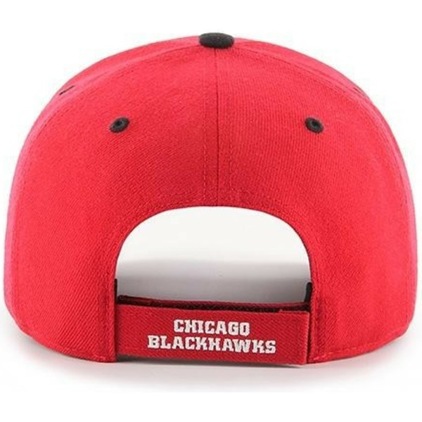casquette-courbee-rouge-chicago-blackhawks-nhl-mvp-dp-audible-47-brand