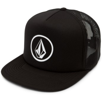 Casquette trucker noire Full Frontal Cheese Black Volcom