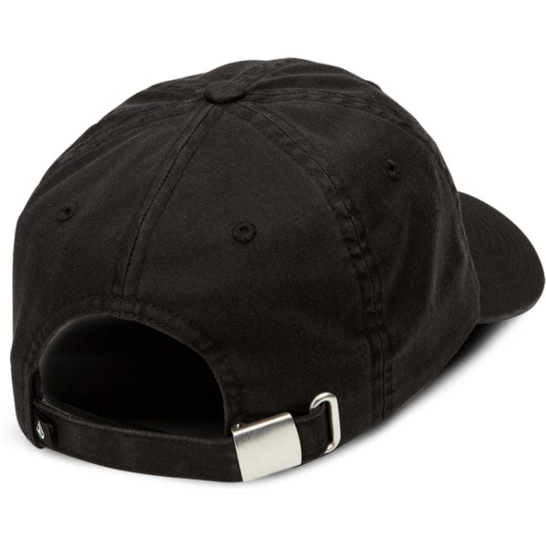 casquette-courbee-noire-ajustable-kneon-night-black-volcom