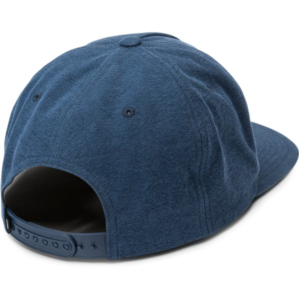 casquette-plate-bleue-marine-snapback-scribble-stone-navy-volcom