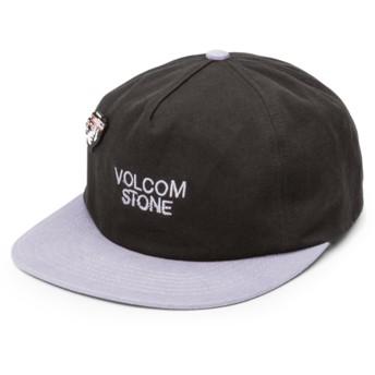 Casquette plate noire ajustable avec visière grise Noa Noise Black Volcom