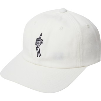 Casquette courbée blanche ajustable Finger Dirty White Volcom