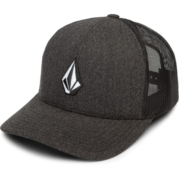 casquette-trucker-noire-full-stone-cheese-charcoal-heather-volcom