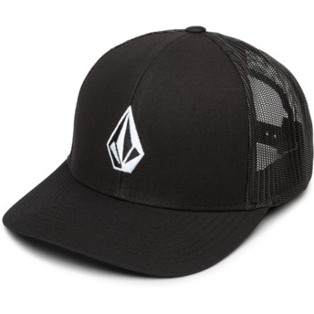 Casquette trucker noire Full Stone Cheese New Black Volcom