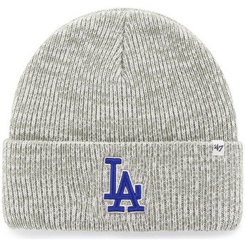 Bonnet gris Los Angeles Dodgers MLB Cuff Knit Brain Freeze 47 Brand