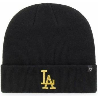 Bonnet noir avec logo or Los Angeles Dodgers MLB Cuff Knit Metallic 47 Brand