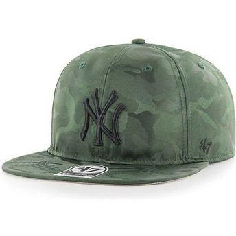 Casquette plate camouflage snapback New York Yankees MLB Captain Jigsaw 47 Brand
