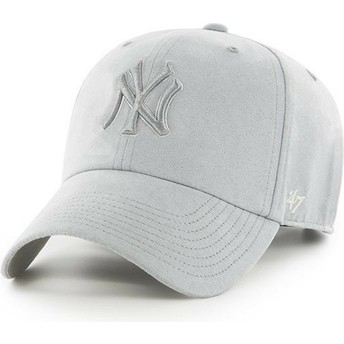 Casquette courbée grise avec logo grise New York Yankees MLB Clean Up Ultra Basic 47 Brand