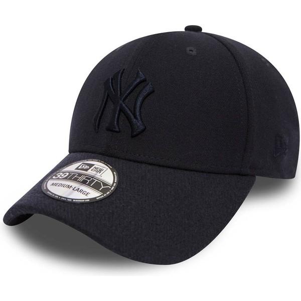casquette-courbee-bleue-marine-ajustee-avec-logo-bleu-marine-39thirty-club-coop-new-york-yankees-mlb-new-era