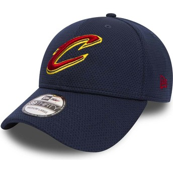 Casquette courbée bleue ajustée 39THIRTY Sport Mesh Cleveland Cavaliers NBA New Era