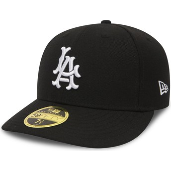Casquette courbée noire ajustée 59FIFTY Coop Wool Los Angeles Dodgers MLB New Era