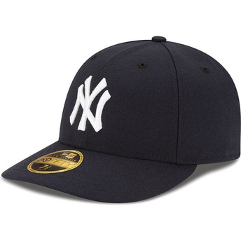 Casquette courbée bleue marine ajustée 59FIFTY Low Profile Authentic New York Yankees MLB New Era