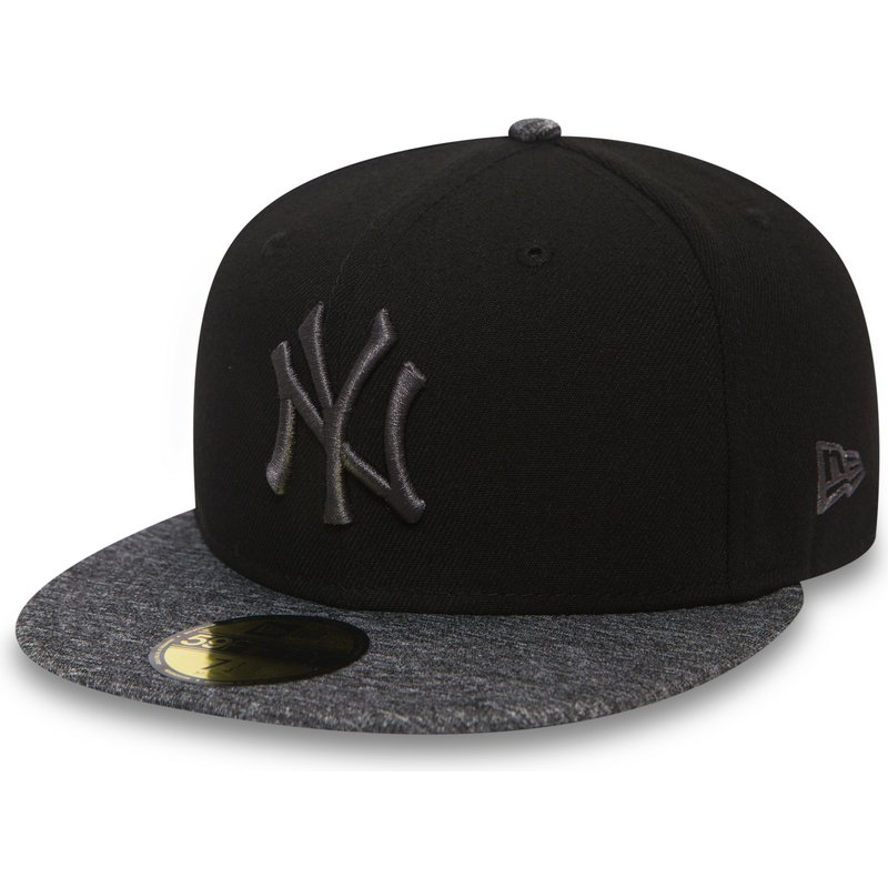 casquette-plate-noire-ajustee-avec-logo-et-visiere-grise-59fifty-grey-collection-new-york-yankees-mlb-new-era