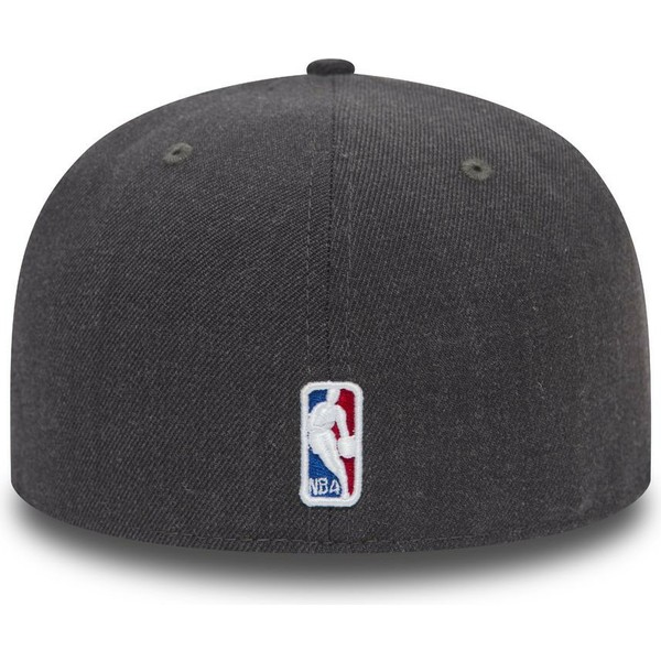 casquette-plate-noire-ajustee-59fifty-heather-chicago-bulls-nba-new-era