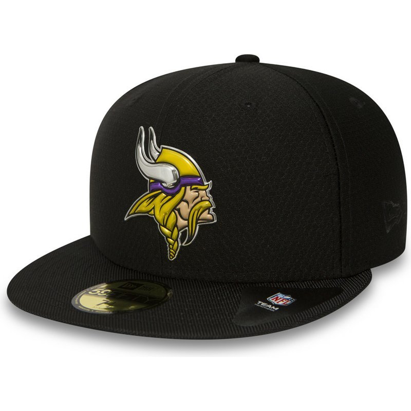 casquette-plate-noire-ajustee-59fifty-black-coll-minnesota-vikings-nfl-new-era
