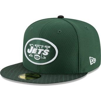 Casquette plate verte ajustée 59FIFTY Sideline New York Jets NFL New Era