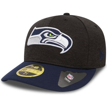 Casquette courbée pierre et bleue ajustée 59FIFTY Low Profile Shadow Tech Seattle Seahawks NFL New Era