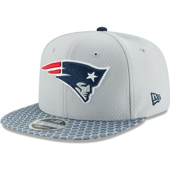 Casquette plate grise snapback 9FIFTY Sideline New England Patriots NFL New Era