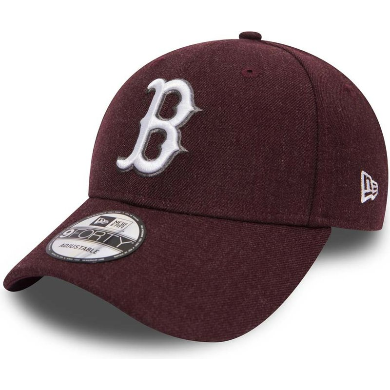 casquette-courbee-violette-ajustable-9forty-seasonal-heather-boston-red-sox-mlb-new-era