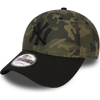Casquette courbée camouflage ajustable 9FORTY Mesh Overlay New York Yankees MLB New Era