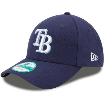 Casquette courbée bleue marine ajustable 9FORTY The League Tampa Bay Rays MLB New Era