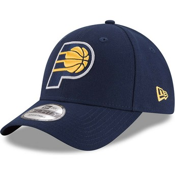 Casquette courbée bleue marine ajustable 9FORTY The League Indiana Pacers NBA New Era