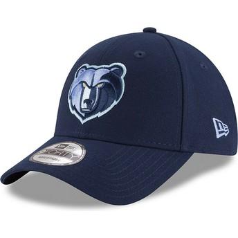 Casquette courbée bleue ajustable 9FORTY The League Memphis Grizzlies NBA New Era