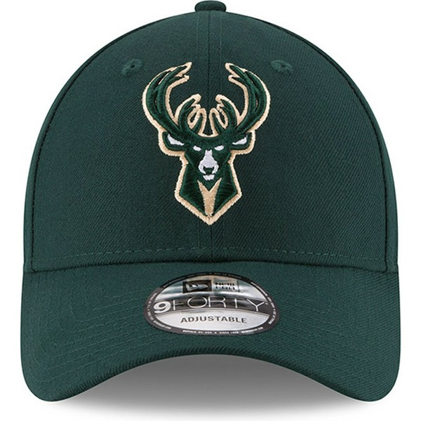 casquette-courbee-verte-ajustable-9forty-the-league-milwaukee-bucks-nba-new-era