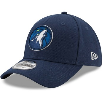 Casquette courbée bleue marine ajustable 9FORTY The League Minnesota Timberwolves NBA New Era