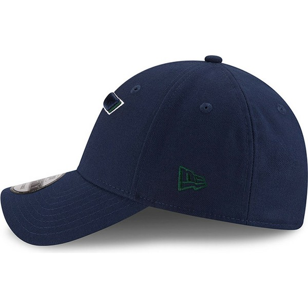 casquette-courbee-bleue-marine-ajustable-9forty-the-league-utah-jazz-nba-new-era