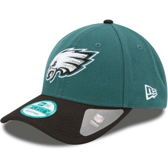 Casquette courbée verte et noire ajustable 9FORTY The League Philadelphia Eagles NFL New Era