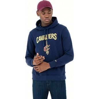 Sweat à capuche bleu marine Pullover Hoody Cleveland Cavaliers NBA New Era